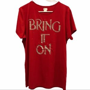 Russel Red women's graphic t-shirt xl sparkle